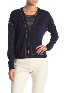 Vince Camuto Long Sleeve V-Neck Cardigan