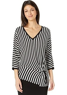 Vince Camuto Long Sleeve V-Neck Striped Sweater