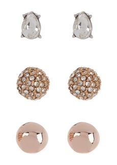 Vince Camuto Mixed Stud Earrings - Set of 3