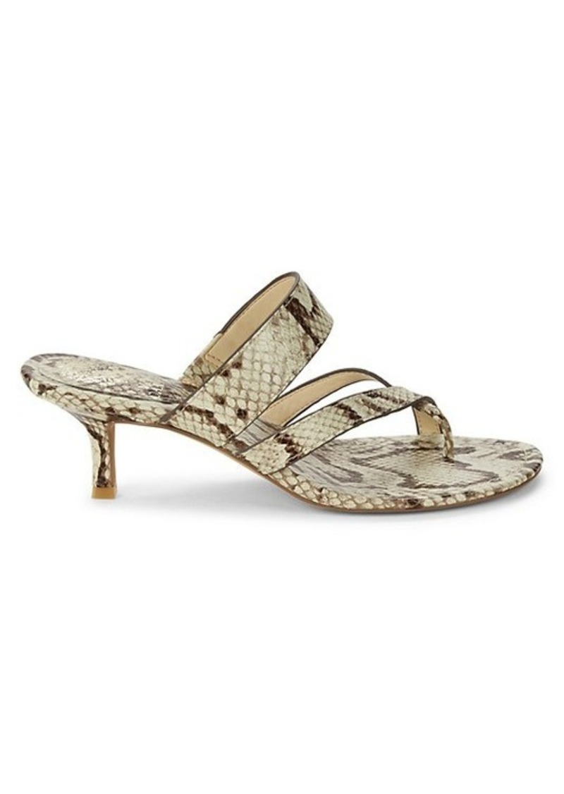 Vince Camuto Moentha Snake-Print Sandals