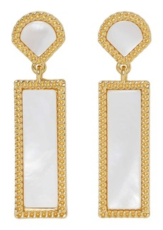 Vince Camuto Mother-of-Pearl Double Drop Earrings