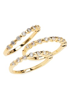 Vince Camuto Nordstrom Set of 3 Crystal Stackable Rings
