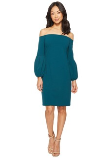 Vince Camuto Off Shoulder Bubble Sleeve Crepe Ponte Dress