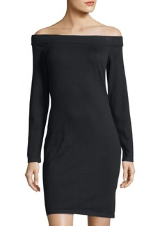 Off-The-Shoulder Sweaterdress
