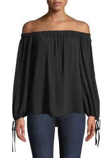 Vince Camuto Off-The-Shoulder Tie-Cuff Blouse