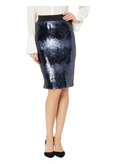 Vince Camuto Ombre Sequin Pencil Skirt