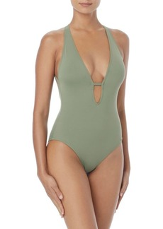 Vince Camuto One-Piece Plungeneck Swimsuit