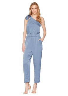 Vince Camuto One Shoulder Heavy Rumple Jumpsuit