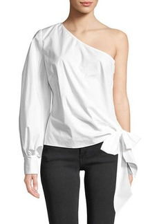 Vince Camuto One-Sleeve Poplin Blouse