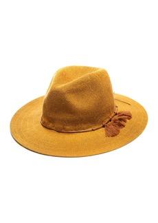 Vince Camuto Packable Dainty Tassel Panama Hat
