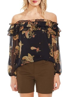 Vince Camuto Paisley Spice Off the Shoulder Top (Regular & Petite)
