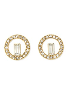 Vince Camuto Pave Baguette Stud Earrings