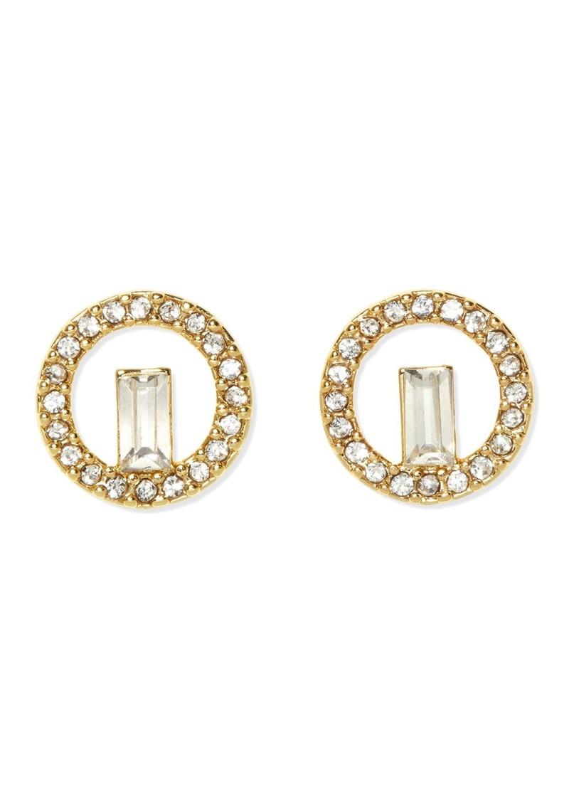 Vince Camuto Pave Baguette Stud Earrings