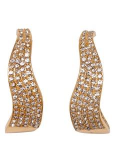 Vince Camuto Pave Crystal 26mm Wavy Hoop Earrings