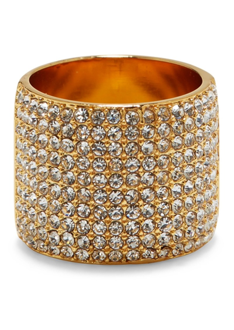 Vince Camuto Pave Crystal Cigar Band Ring - Size 8