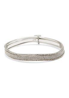 Vince Camuto Pave Crystal Wavy Bracelet Set
