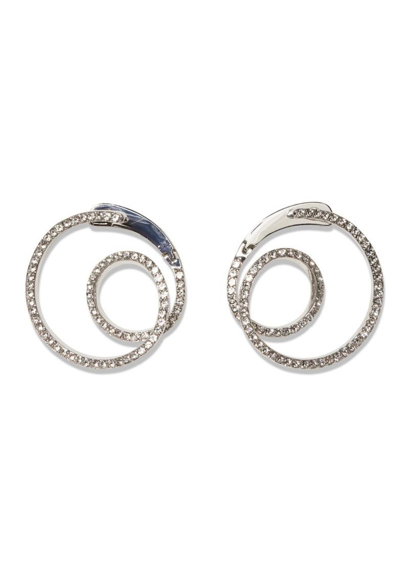 Vince Camuto Pave Crystal Wraparound Hoop Earrings