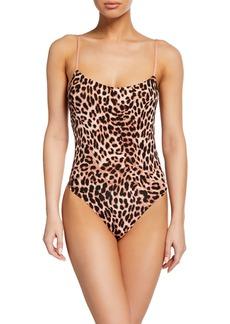 Vince Camuto Penelope Leopard Print Bodysuit