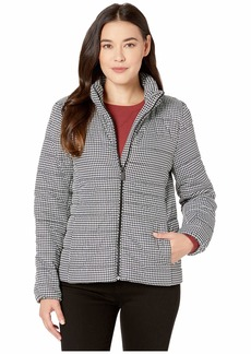 Vince Camuto Petite Houndstooth Zip Front Puffer Jacket
