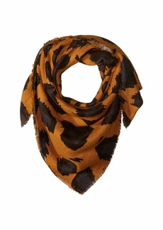 Vince Camuto Plaid to Leopard Double Face Wrap