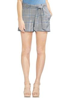 Vince Camuto Plaid Waist Tie Cuffed Shorts