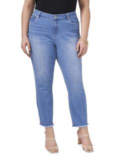 Vince Camuto Plus Size 5 Pocket Released Hem Jean
