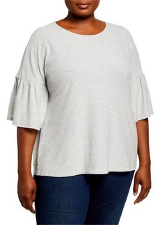 Vince Camuto Plus Size Bell-Sleeve Top