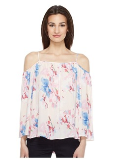 Vince Camuto Poetic Bouquet Cold-Shoulder Blouse