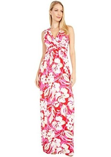 Vince Camuto Printed Jersey Wrap Front Maxi