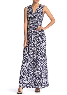 Vince Camuto Printed Sleeveless Maxi Dress