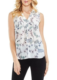 Vince Camuto Printed Sleeveless Top