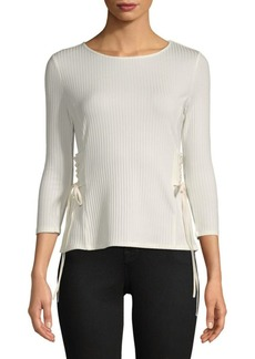 Quarter-Sleeve Side Lace Top