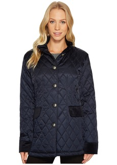 Vince Camuto Quilted Jacket with Velvet Trim N8621