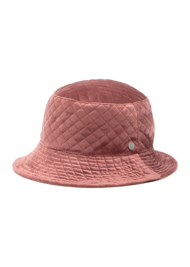 Vince Camuto Quilted Velvet Bucket Hat