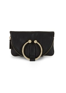 Vince Camuto Ring Detail Leather Pouch