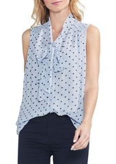 Vince Camuto Romantic Dots Tie Neck Blouse (Regular & Petite)