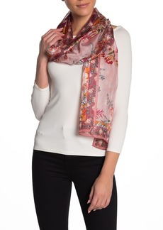 Vince Camuto Rose Wallpaper Silk Scarf