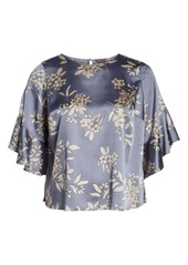 Vince Camuto Ruffle Sleeve Bouquet Top (Plus Size)