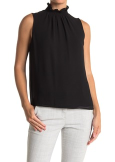 Vince Camuto Ruffled Mock Neck Sleeveless Blouse