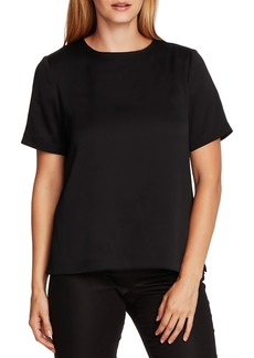 Vince Camuto Rumple Hammered Satin Tee