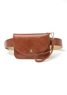 Vince Camuto Shield Logo Saddle Belt Bag