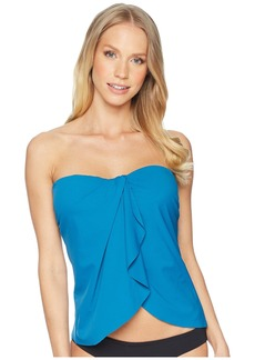 Vince Camuto Shore Shades Draped Bandini w/ Soft Cups & Removable Strap