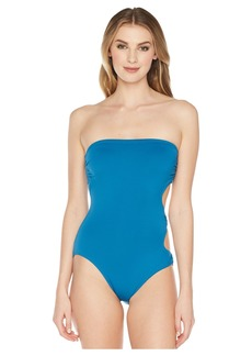Vince Camuto Shore Shades Ring Side Bandeau One-Piece