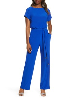 Vince Camuto Short Sleeve Jumpsuit With Tie Waist