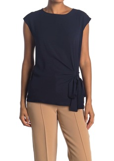 Vince Camuto Short Sleeve Soft Textured Mixed Media Top