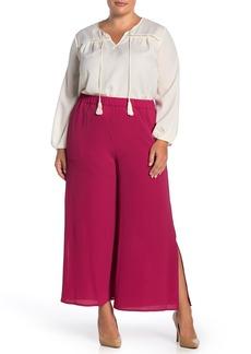 Vince Camuto Side Slit Soft Textured Pants (Plus Size)