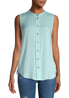 Vince Camuto Side-Tie Buttoned Top