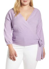 Vince Camuto Side Tie Wrap Sweater (Plus Size)