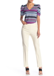 Vince Camuto Side Zip Stretch Cotton Blend Pants (Nordstrom Exclusive)