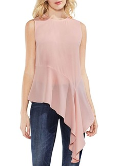 Vince Camuto Sleeveless Asymmetric Draped Hem Top